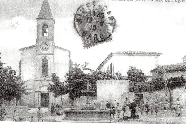 place de l'église et fontaine 2