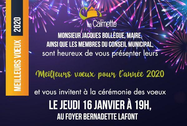 Invitation aux vœux du maire La Calmette